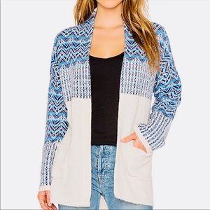 EUC💙Joie Fair Isle Cardigan Sweater